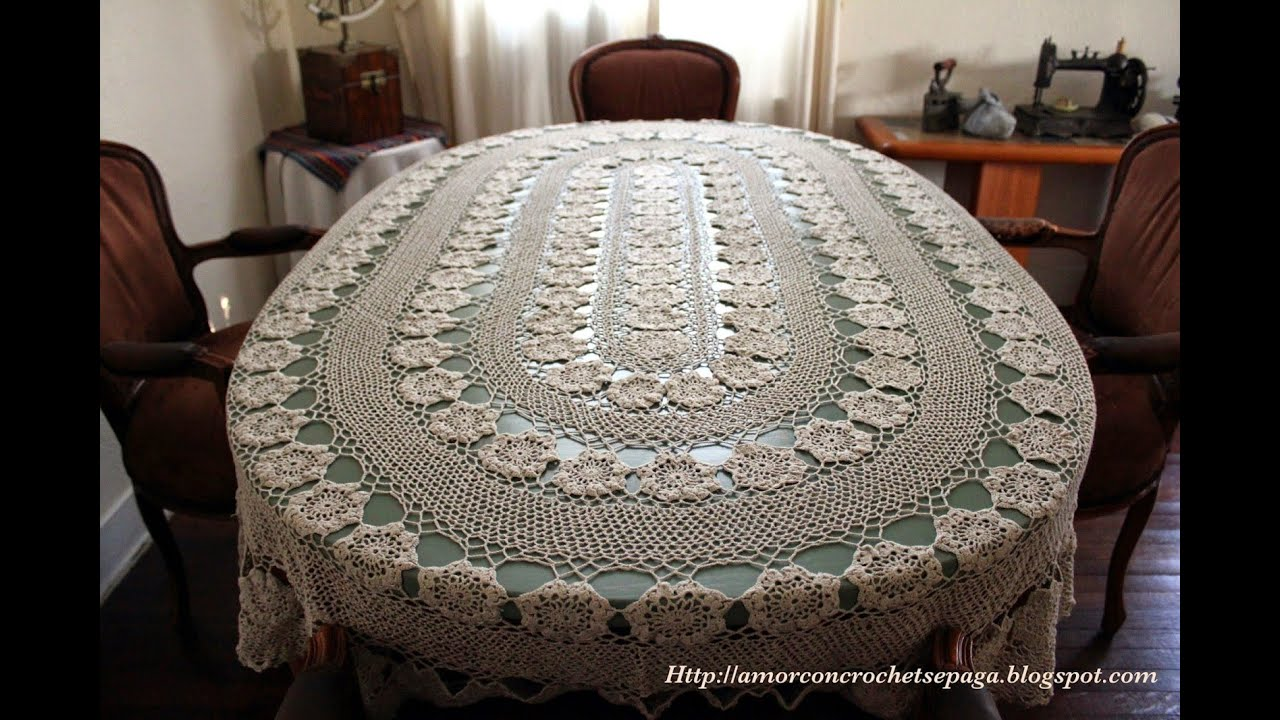 Mantel tejidos a crochet youtube - Mantel de crochet ...