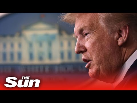 Donald Trump daily briefing on COVID-19 pandemic with Coronavirus Task Force
