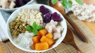 Taro Balls Dessert with Mung Bean and Barley ???? 薏米綠豆三色芋圓湯 | ASMR Cooking ????