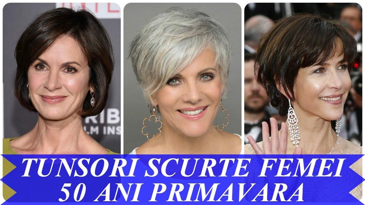 Tunsori Scurte Femei 50 Ani Primavara 2018 Youtube