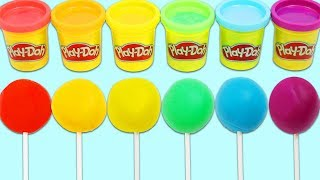 Learn Colors Making Rainbow Play Doh Ice Cream Popsicles!