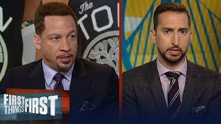 D'Angelo Russell is a 'good fit' with the Warriors - Chris Broussard | NBA | FIRST THINGS FIRST