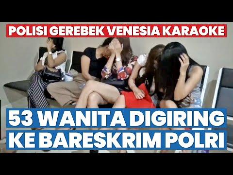 Polisi Gerebek Venesia Karaoke, 53 Wanita Digiring Ke Bareskrim Polri
