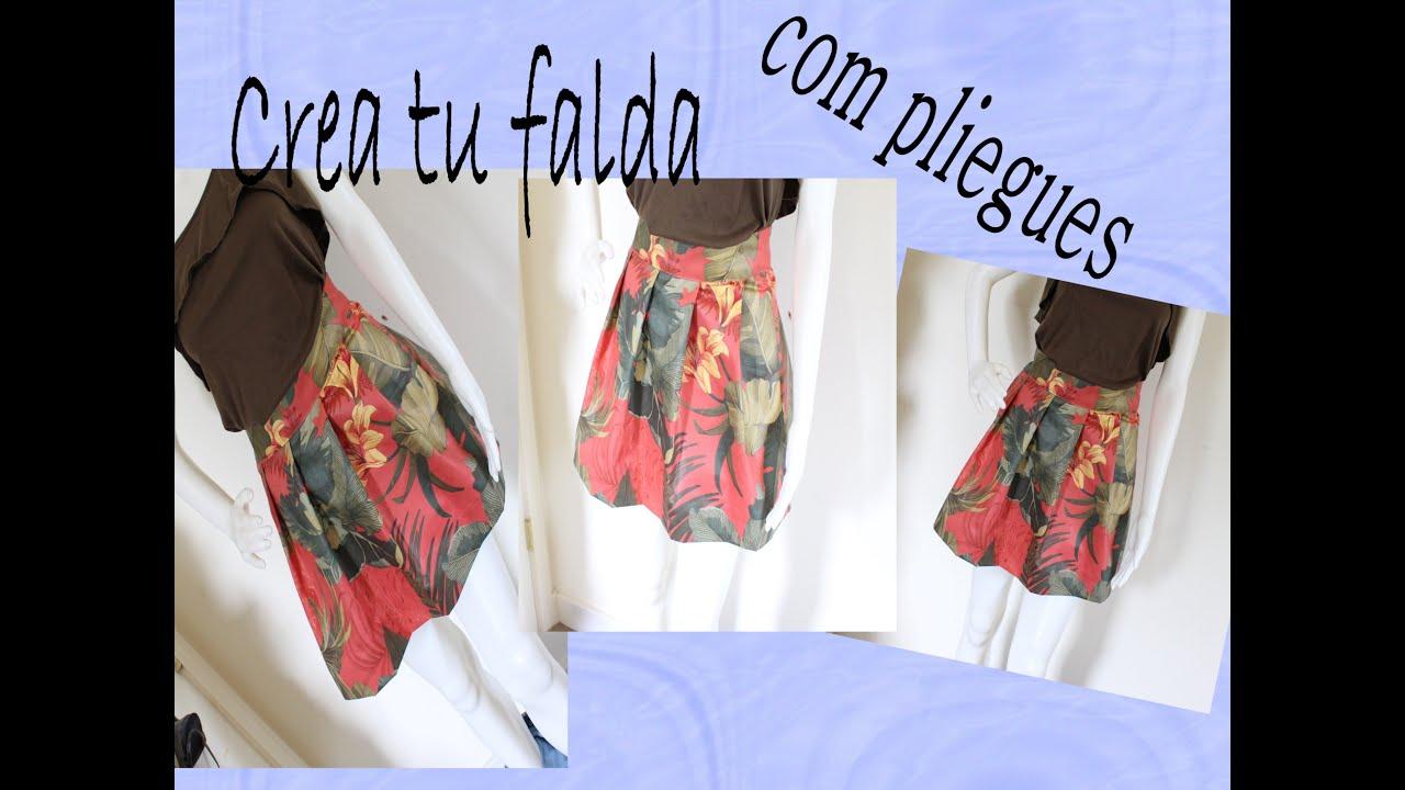87aab813c Como hacer Falda con pliegues