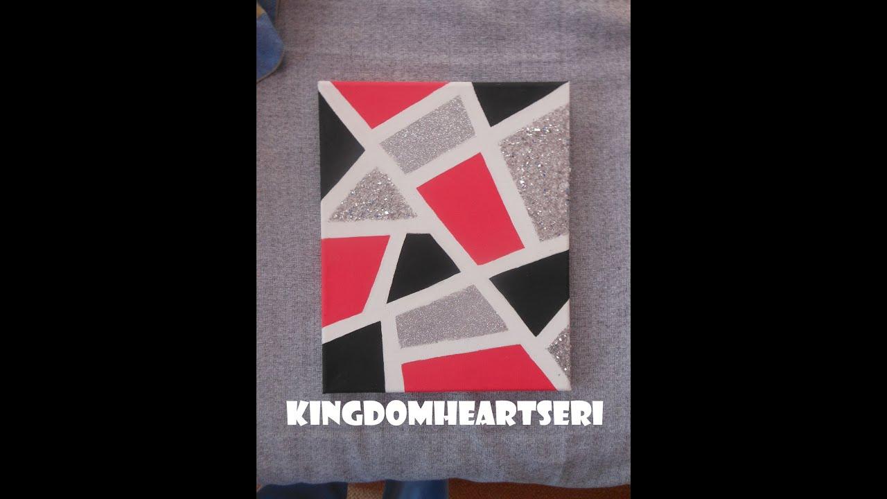 DIY:Geometric Glitter Canvas (by KHERI) - YouTube