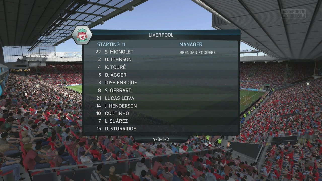 (PS4) FIFA 14 | Liverpool vs Arsenal | FULL GAMEPLAY [PlayStation 4 1080p HD Next Gen] - YouTube