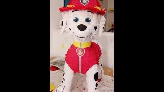 Piñata de Marshall, How to make Paw Patrol Piñata, Patrulla canina, Patrouille canine