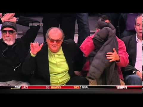 Jack Nicholson and Adam Sandler walk out on Lakers