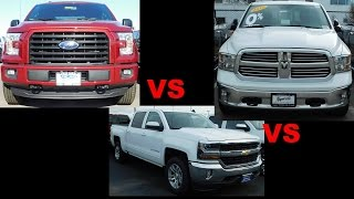 2017 Ford F-150 vs 2017 Chevy Silverado vs 2017 Ram 1500
