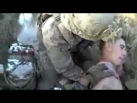 Marine gets shot in neck