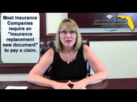 Tampa Jewelry Appraisals Questions - What do insurance companies require to pay claims?
