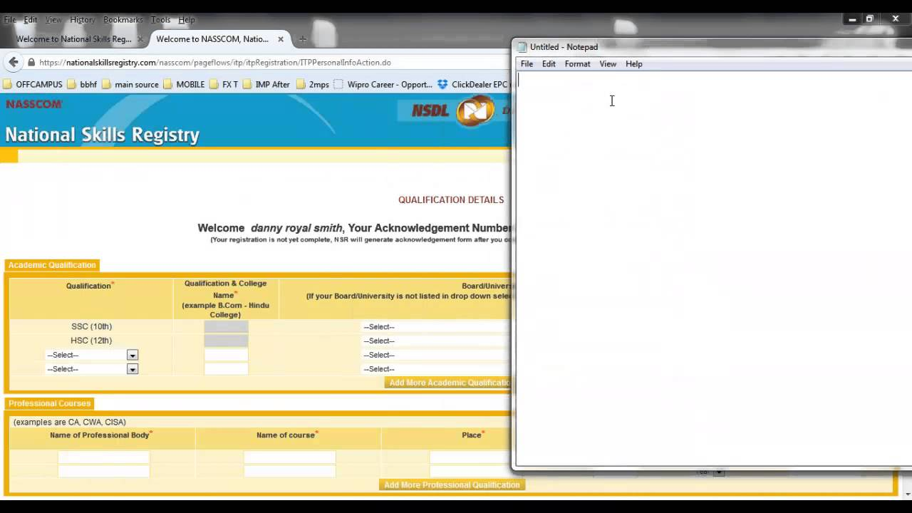 How to do NSR Registration - YouTube