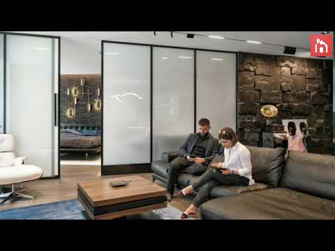 A Modern Bachelor Pad With Smart Glass Space Dividers