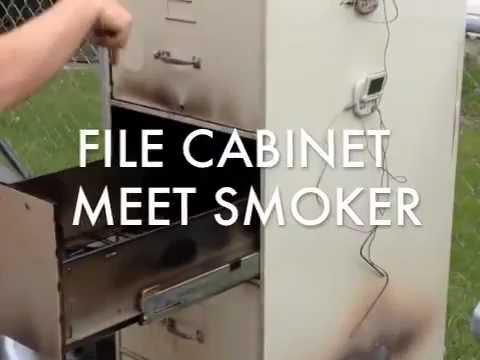 File Cabinet Meat Smoker From Anonymous Man - YouTube