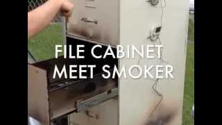 File Cabinet Meat Smoker From Anonymous Man