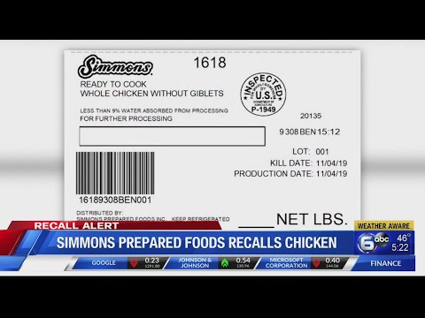 2 million pounds of chicken recalled over metal contamination concerns