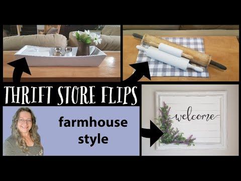Thrift Store Flips~Farmhouse Home Decor~Trash To Treasure Farmhouse Style
