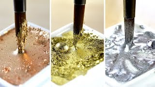 【SATISFYING METALLIC PAINTS】 For Use With Watercolor