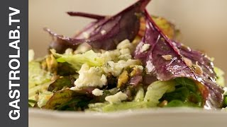 Mixed Greens Salad With Vinaigrette Dressing And Blue Cheese || Quick & Easy Recipes || Gastro Lab