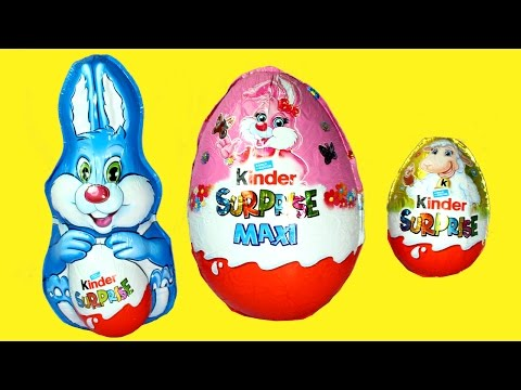 Thumbnail: Giant Kinder Easter Egg 2017 Chocolate Bunny Surprise Egg Opening for Kids