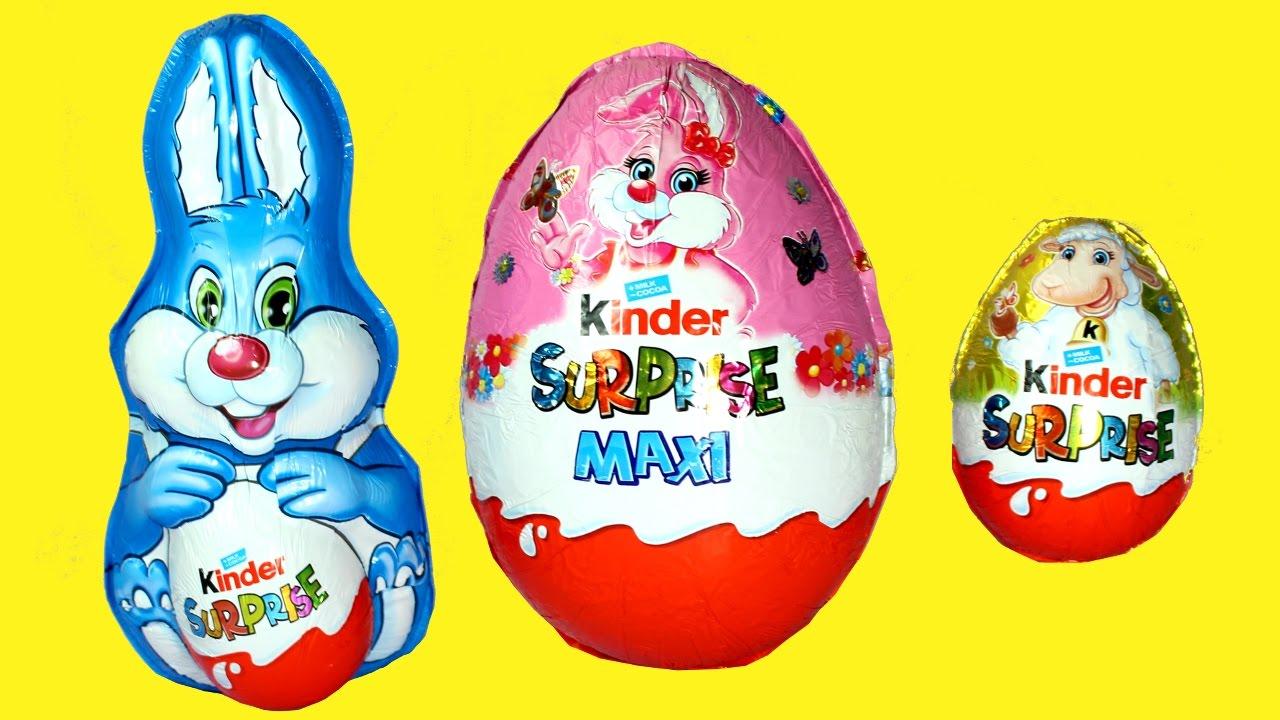 giant kinder easter egg 2017 chocolate bunny surprise egg opening