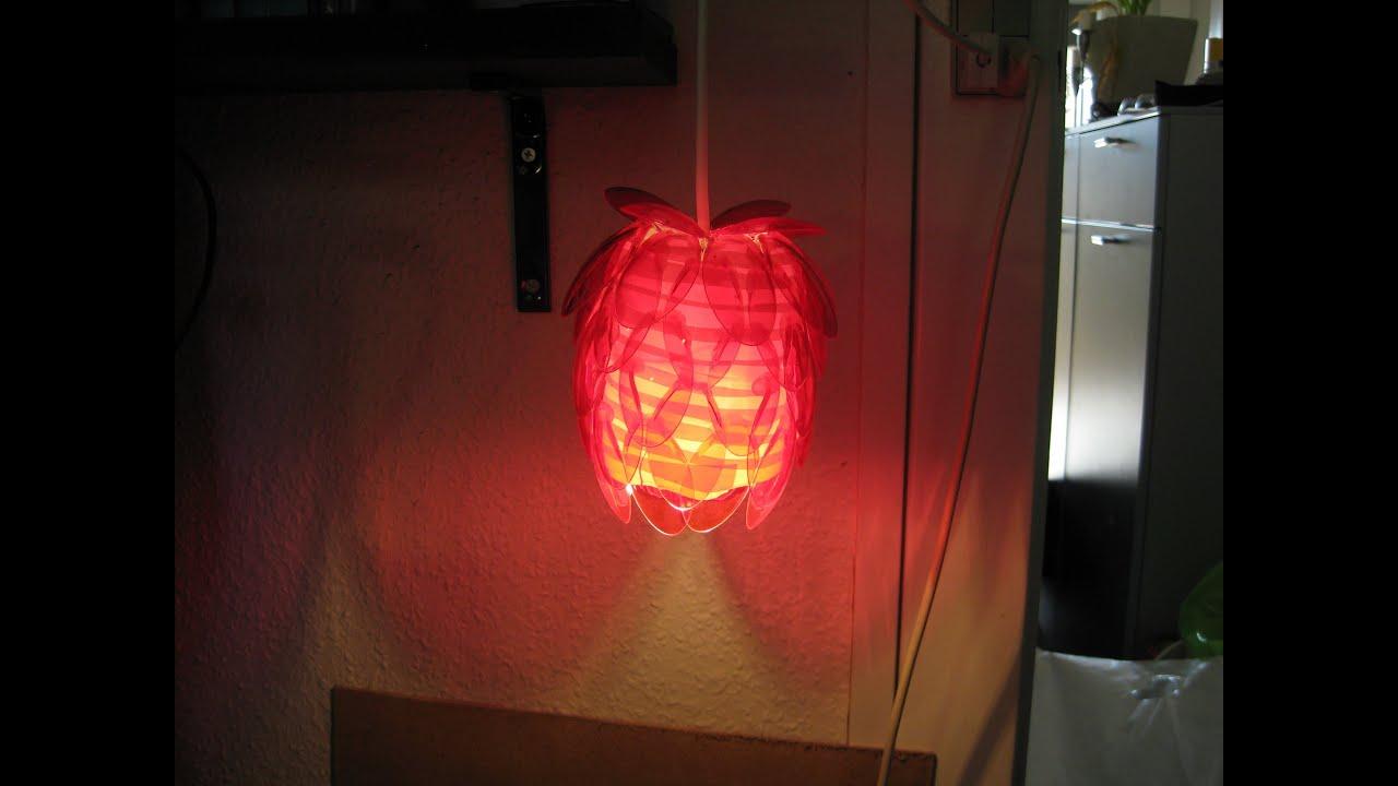 KreaHjørnet - Tutorial - Lampe lavet af plastik skeer - YouTube