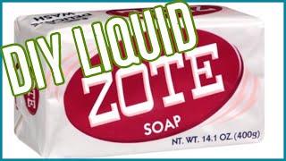 DIY Liquid Zote Soap | Frugal Living | No cooking!