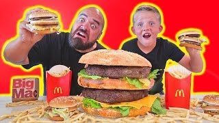 Most Expensive Giant McDonalds Big Mac vs Real Hamburger DIY