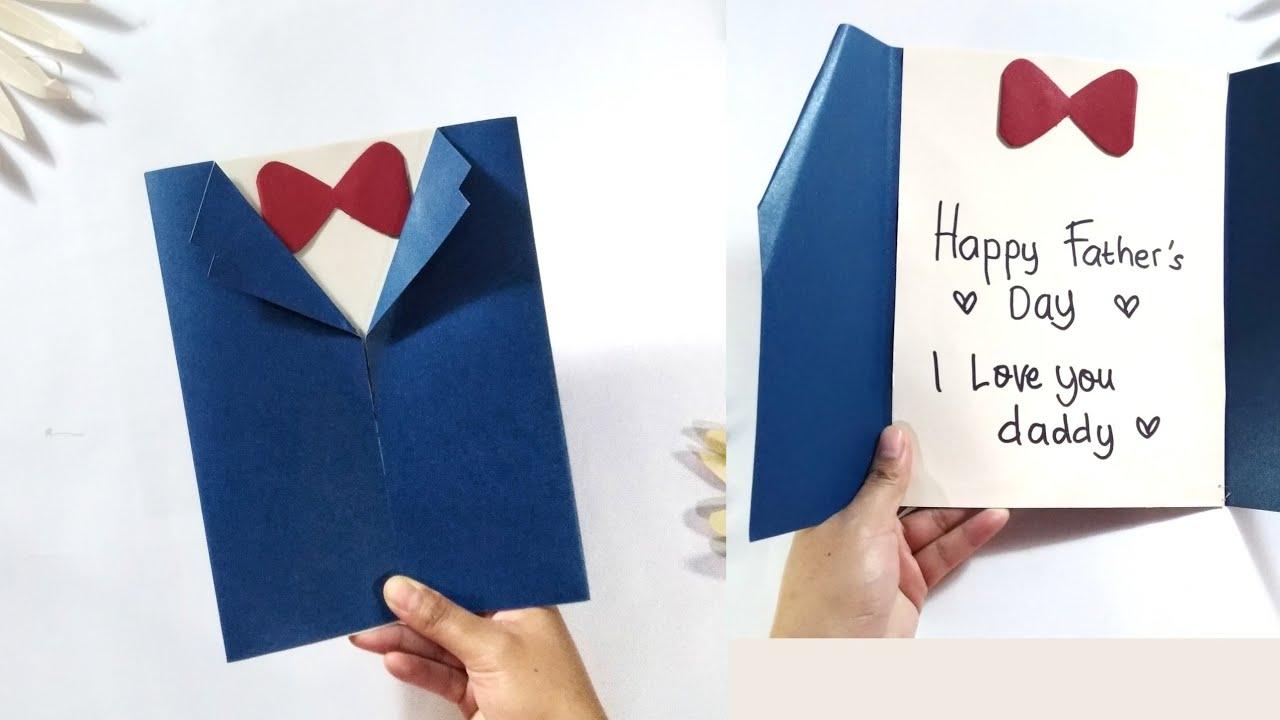 Cara Membuat Kartu Ucapan Diy Father S Day Cards Kad Ucapan Hari Bapa Ide Kreatif Kado Hari Ayah Youtube