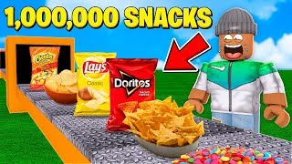 Building My Own $1,000,000 SNACK FACTORY in Roblox!