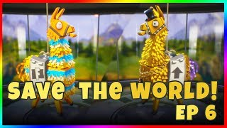 LET'S PLAY FORTNITE: SAVE THE WORLD! Episode 6 - Pack du fondateur Hebdomadaire Llama Ouverture Spree STW Gold