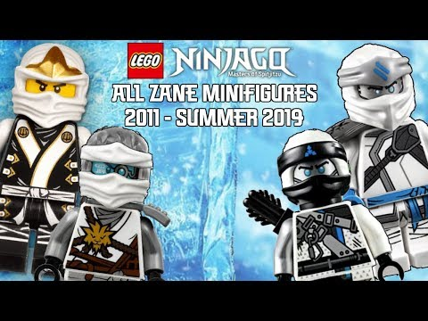 Ninjago Masters of Spinjitzu: All Zane Minifigures (2011 - Summer 2019)