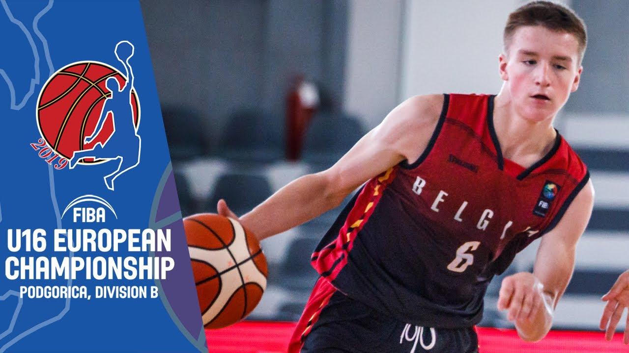 Belgium v Finland - Full Game - FIBA U16 European Championship Division B 2019