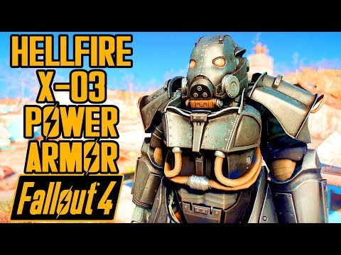 Fallout 4 - HELLFIRE X-03 POWER ARMOR! - Enclave Armor Showcase & Location - Mod