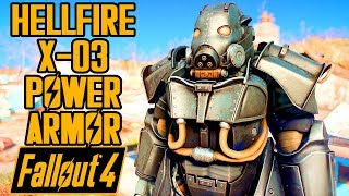 Fallout 4 - HELLFIRE X-03 POWER ARMOR! - Enclave Armor Showcase & Location - Xbox & PC Mod
