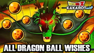 Dragon Ball Z Kakarot - HOW TO GET ALL DRAGON BALLS & ALL SHENRON WISHES Free Money, Orbs, & MORE!