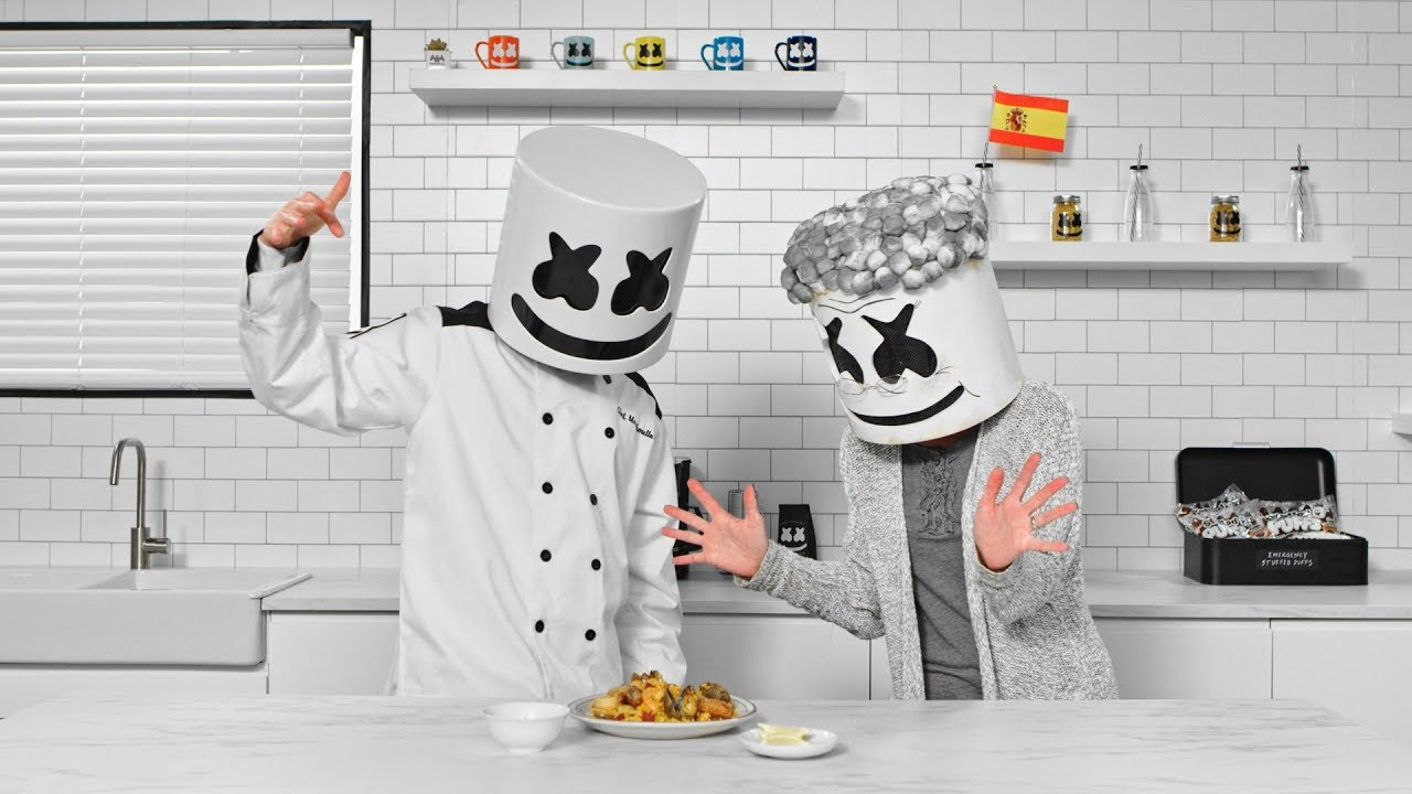 Marshmello and his Abuela Cook Spanish