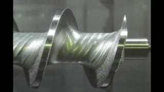 複合旋盤によるマシニング加工 スクリュー ねじれ ねじ 切削加工