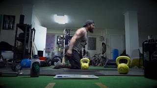 Kettlebell Swing Variation : Alternating Outside Leg Kneeling Swing