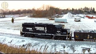 NS Freight Train Battles a Blizzard