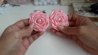 Como Fazer Rosas de Tecido, Cetim ou Fita