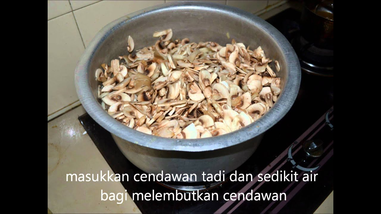 cara membuat mushroom soup - YouTube