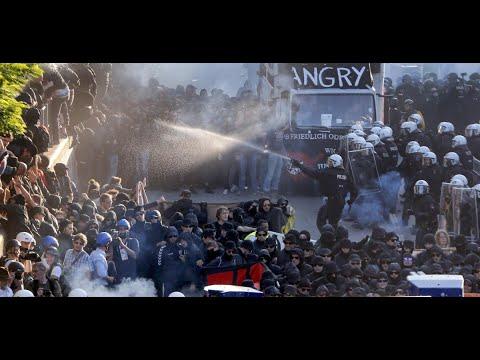 أخبار عالمية | ليلة ثالثة من المواجهات بين الشرطة ومتظاهرين في #هامبورغ  - 10:22-2017 / 7 / 9