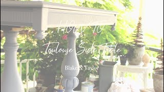 SIDE TABLE MAKEOVER with Blake & Taylor
