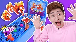 피라냐를 피해라!!! piranha panic 보드게임 장난감 놀이 - 강이