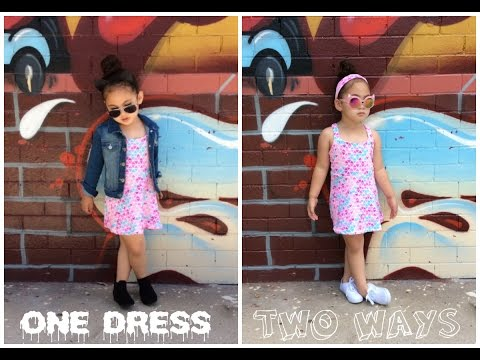2017 GIRLS TODDLER KID FASHION LOOKBOOK OUTFIT CLOTHING ONE DRESS TWO OUTFITS