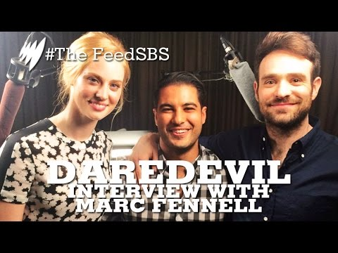 Daredevil's Charlie Cox & Deborah Ann Woll interview with Marc Fennell  I The Feed
