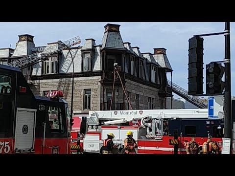 🔥 First alarm fire on the corner of Rachel E / Saint Hubert