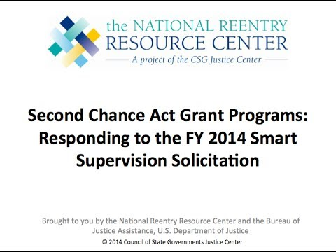 Responding to the Second Chance Act Smart Supervision Sollicitation