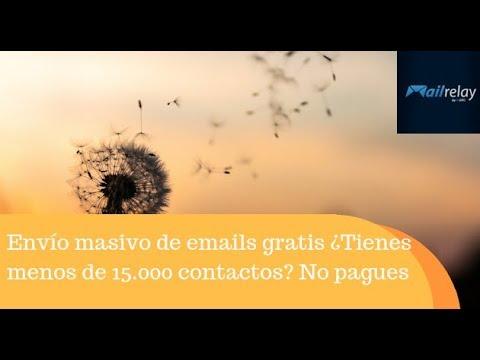 Envío masivo de emails gratis ¿Tienes menos de 15.000 contactos? No pagues